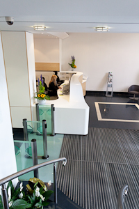 interior design photography - reception at SEB designed by Burtt Jones and Brewer